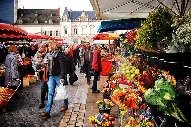 Beaune market flowers