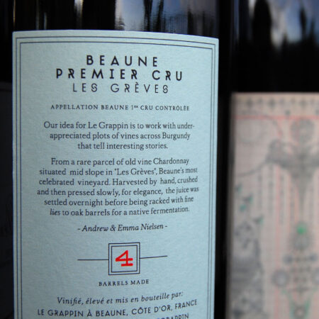 Le Grappin Beaune 1er Les Greves Back Label