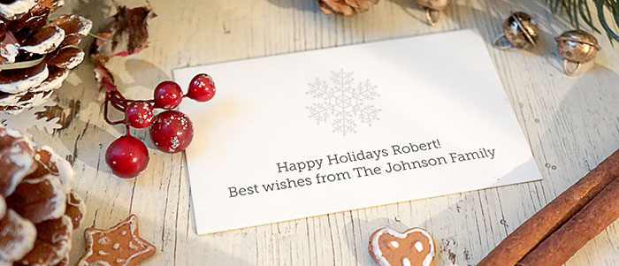 Personalized holiday card